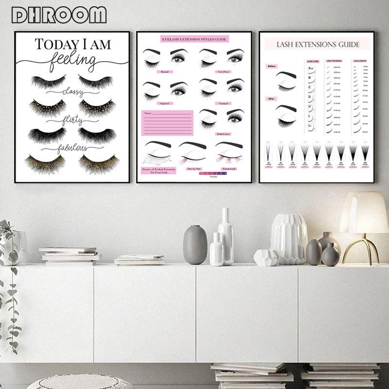 makeup wall art eyelash extension style