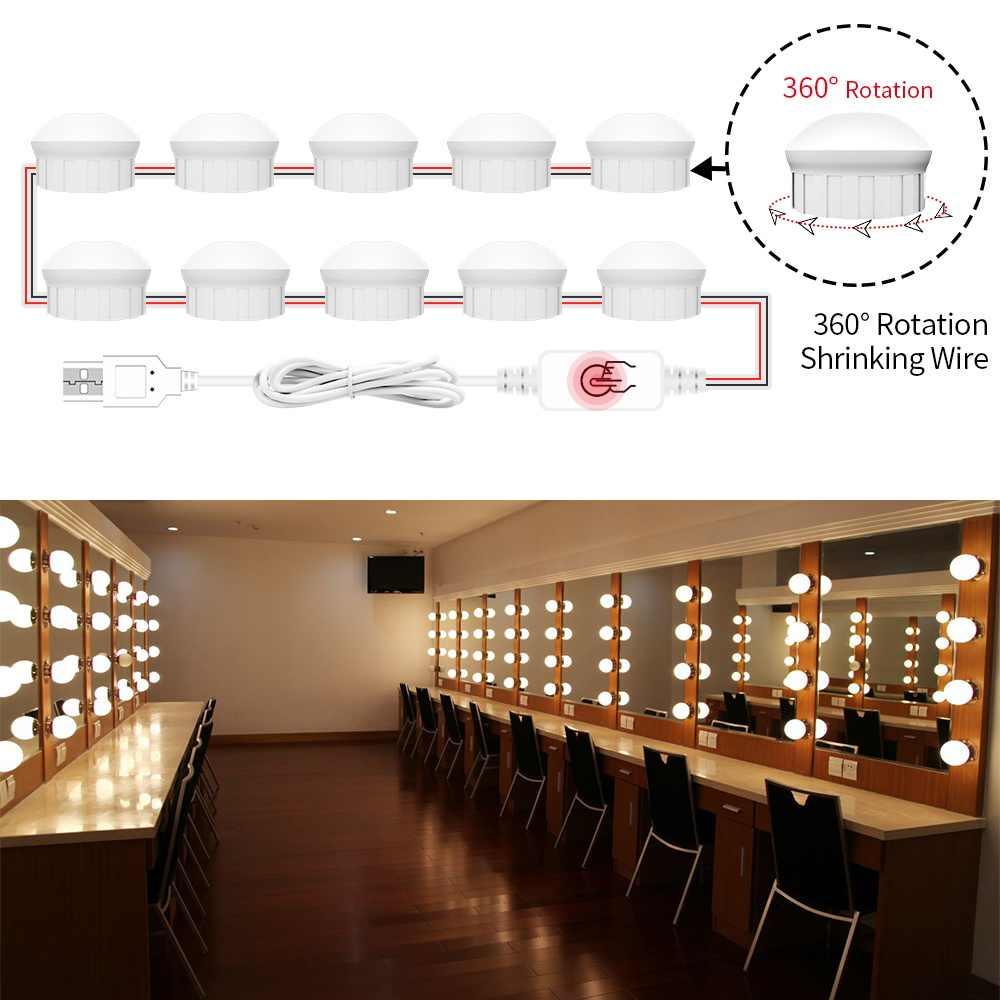 Led Hollywood Bathroom Mirror Cabinet Light Bulb Led 5v Makeup Vanity Mirror Lights 6 10 14 Bulbs Kit For Make Up Dressing Table Vanity Lights Aliexpress