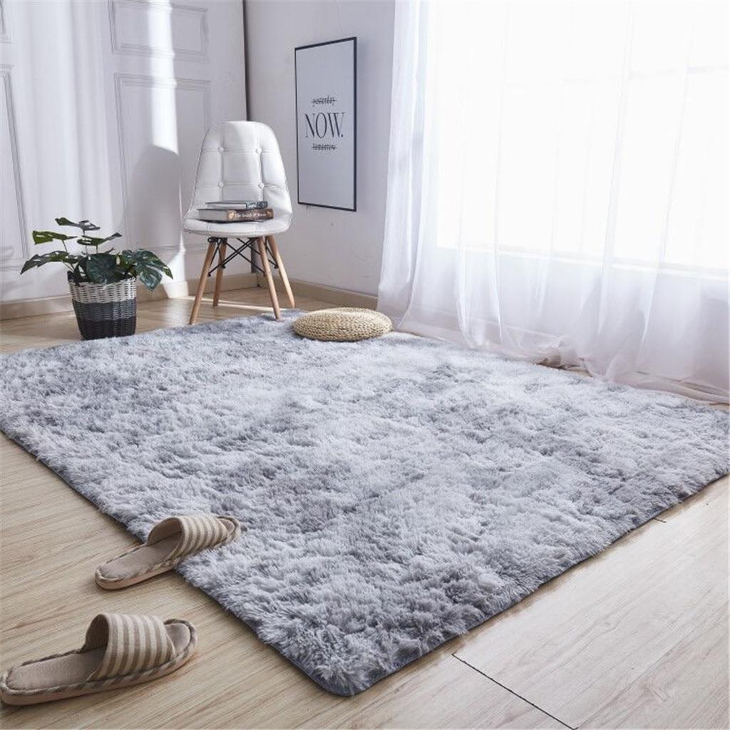 Rugs Plush-Carpet Anti-Slip Living-Room Nordic-Pile Large-Size Child for Study/corridor