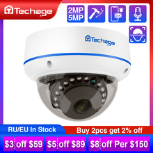 Techage H.265 1080P 2MP 4MP 5MP Indoor Dome 48V Poe Ip Camera Audio Vandaalbestendige Ipc P2P Onvif Video cctv Security Surveillance
