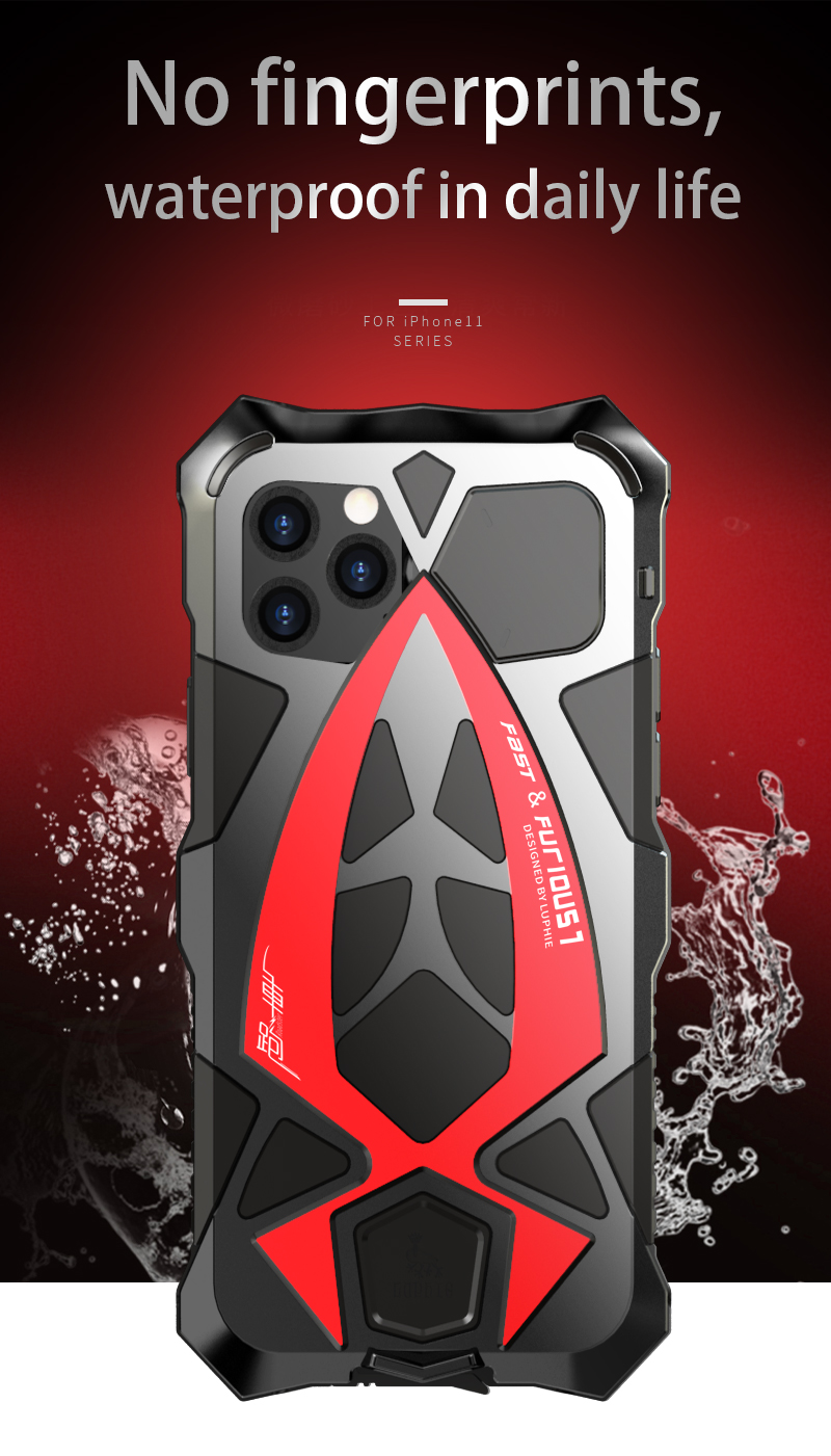 Art - Best Shockproof Case For iPhone 11 Pro Max, XR, XS MAX, Waterproof Military Grade with Built-in Screen Protector