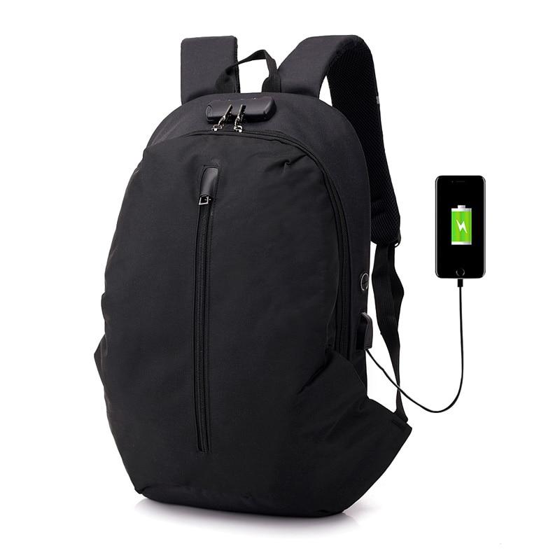 Laptop Backpack Nylon USB Charge Multifunctional Rucksack Schoolbag Hiking Travel Shoulder bag