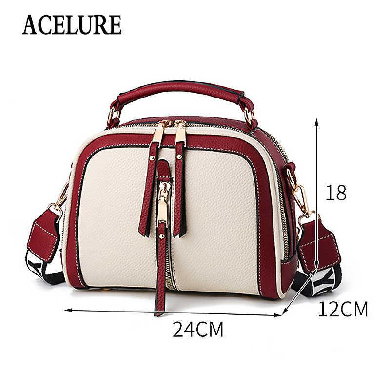المرأة حقيبة ساع حقيبة كتف جلدية pu حقائب سيدات جديد محفظة حقيبة حقائب قماش عصرية هدية بولسا الأنثوية ACELURE
