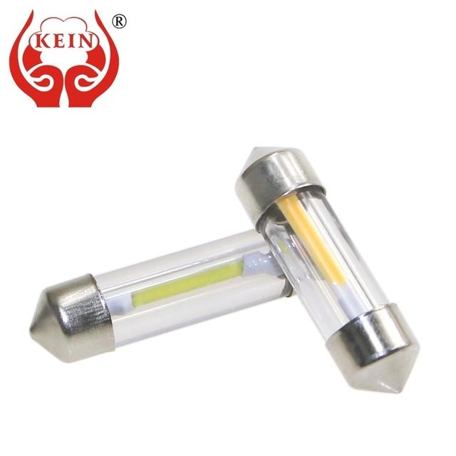 KEIN 10pcs SV8.5 C5W C10W Led Warm White Festoon LED Car Light COB Interior Lighting Reading 31 36 39 41 Mm Signal Lamp Bulb 12V