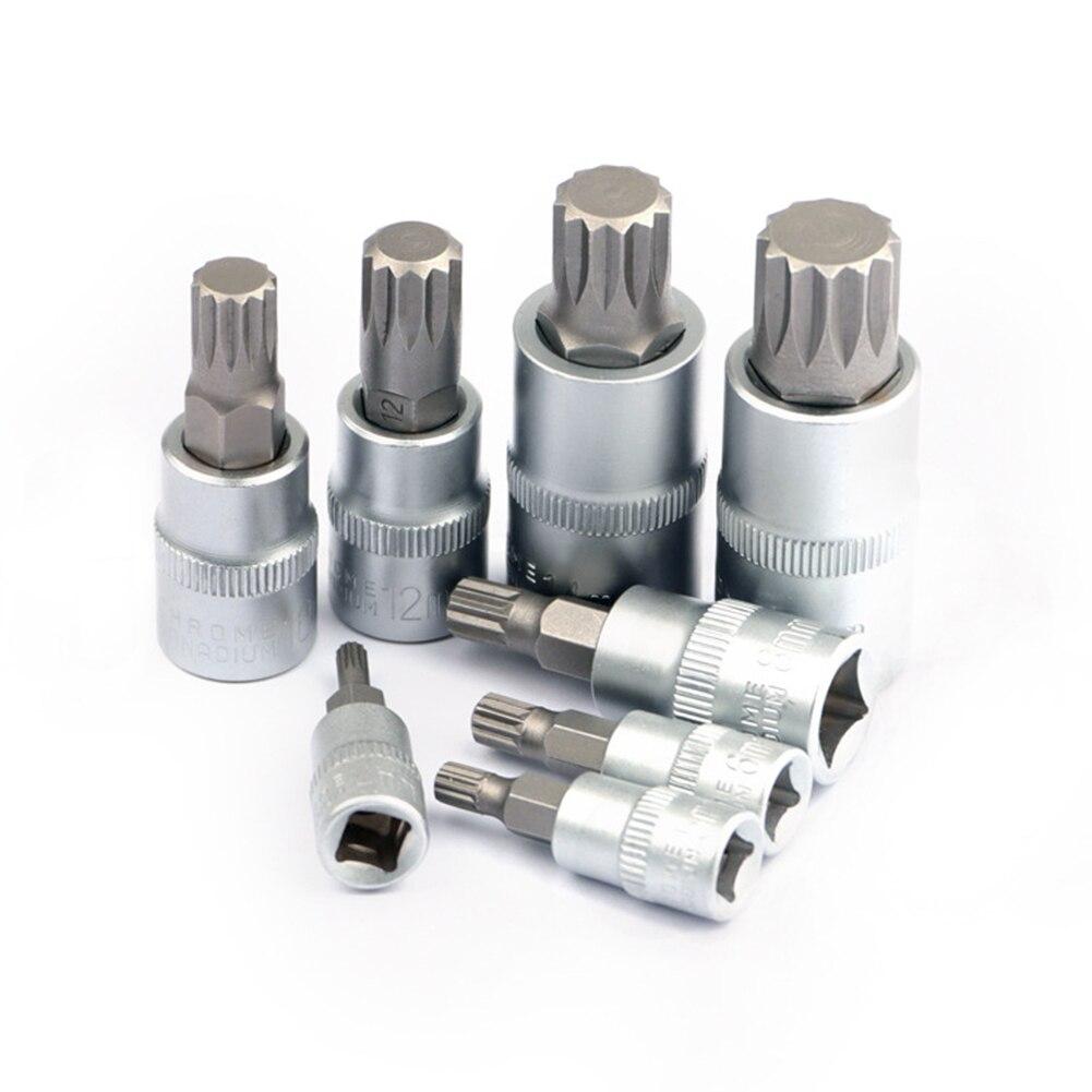 8 шт./компл. звездообразный ключ Socekt M4/M5/M6 /M8/M10/M12/M14/M16 из нержавеющей стали с железным слотом для торцевого ключа