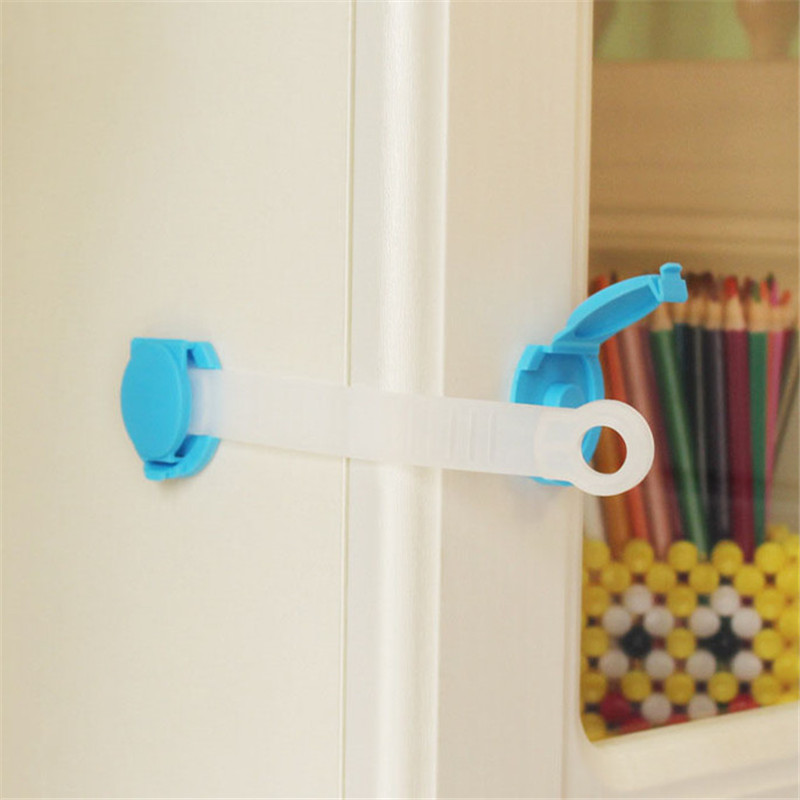 10Pcs Drawer Locks Baby Children Kids Safety Care Plastic Cabinet Protect Locks Drawer Cabinet Lock Long Style Safety Lock