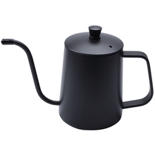 Stainless Steel Mounting Bracket Hand Punch Pot Coffee Pots With Lid Drip Gooseneck Spout Long Mouth Coffee Kettle Teapot-Black stainless steel coffee pot coffee 600ml moka pot long mouth coffee kettle hand punch pot for drip coffee maker lid drip teapot