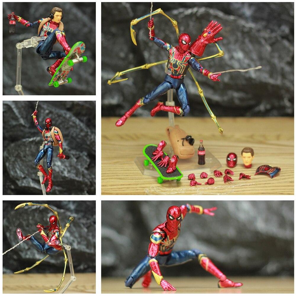 Marvel Avengers fer araignée homme 6 figurine KOs Mafex 081 Infinity War Spiderman Holland légendes loin de la maison Endgame jouets
