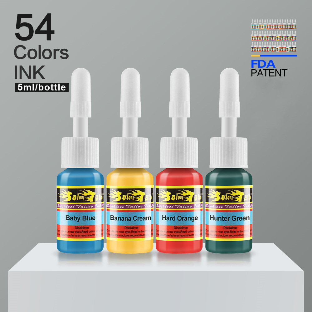 Xiu long Tattoo Pigment 54 Color 5 Ml Tattoo Pigment Suit Tattoo Practice Pigment Tattoo Ink Tattoo Equipment