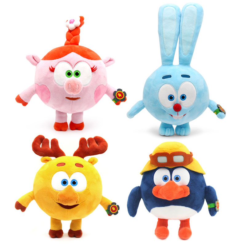 Big Size 23-35cm Russian Cartoon Pincode Smesharik  Babyriki GoGo Stuffed Plush Stuffed Dolls Toys