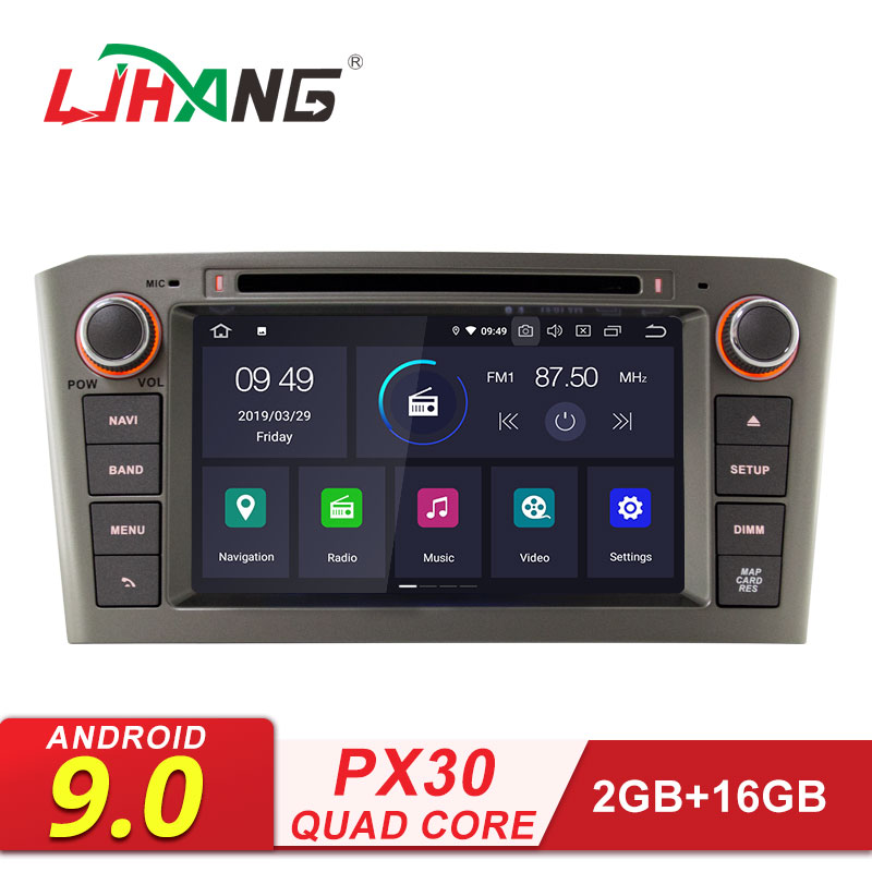 LJHANG 2 Din <font><b>Android</b></font> 9.0 Car Multimedia Player For <font><b>Toyota</b></font> Avensis <font><b>T25</b></font> 2003-2008 GPS Navigation Car Radio Stereo DVD WIFI RDS DSP image