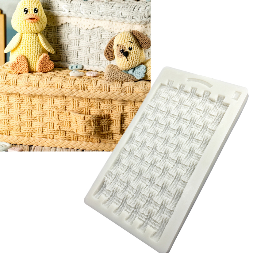 Knitted Sweater Silicone Mold Sugarcraft Cookie Cupcake Chocolate Baking Mold Fondant Cake Decorating Tools