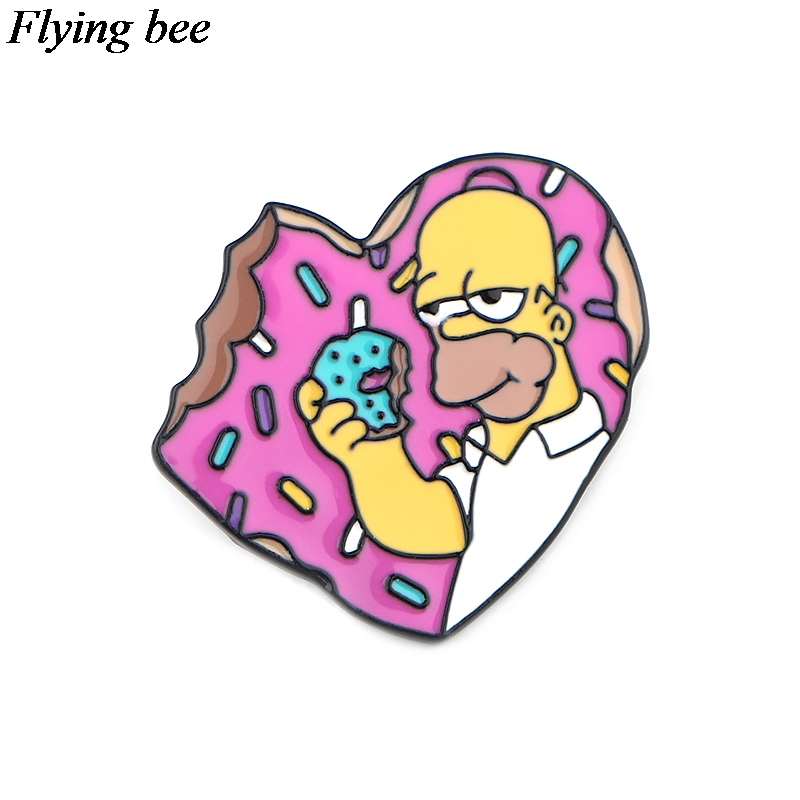 Flyingbee Creative Badges Cartoon Metal Pins For Women Men Backpack Pin Personality Kids Pin Charm Jewelry X0600