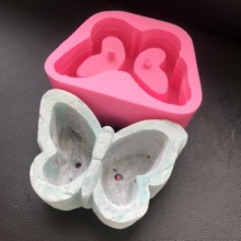 Butterfly Creative Personality Flowerpot Silicone Mold for Concrete Pot Molds Room Windowsill Decoration Cement Planter Mould