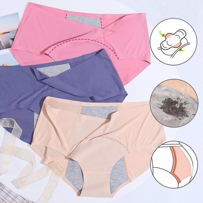 Непротекаемые менструальные трусики, физиологические брюки, женское нижнее белье, женское нижнее белье из хлопка