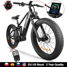 Electric Bicycle Ebike Mountain-Bike Bafang 1000w Snow 9-Speeds Beach 26inch 48V Mens
