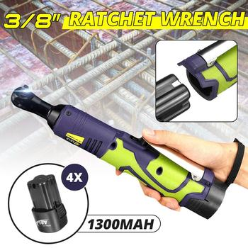 Electric Ratchet Wrench 50Nm 3/8'' Lithium-Ion Battery Rechargeable Electric Cordless Wrench Kit Power Tools Car Repair Tool