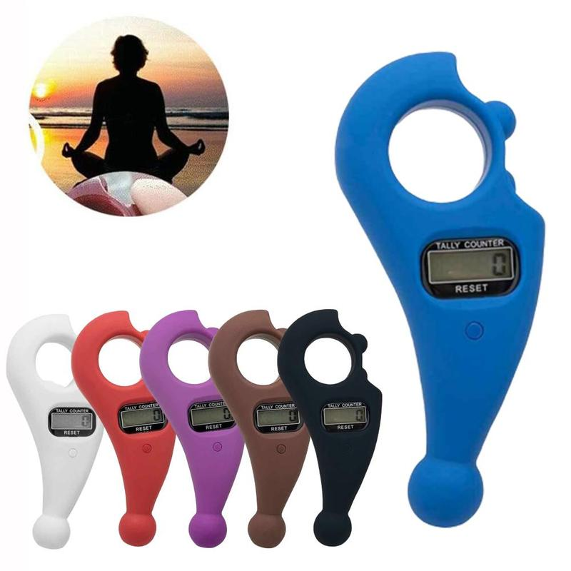 ABS Scroll Relaxation Battery Powered Decompression Toy Mini Handheld Digital Display Buddha Beads Counter Portable For Buddhist