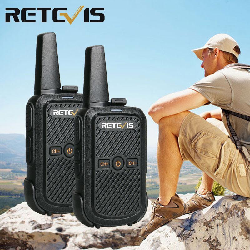 2pcs Retevis RT15 Mini Walkie Talkie Portable Two Way Radio Station UHF VOX USB Charging Transceiver Communicator Walkie-Talkies
