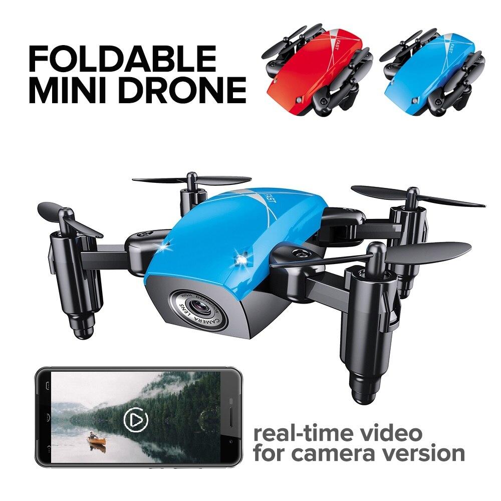 JD JY018 FPV Radio R/C Portable Quadcopter 720P Camera WiFi Foldable Selfie Pocket Drone VS E58 Remote Control Flycam Helicopter