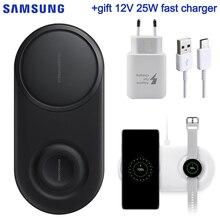 Samsung Original 25W chargeur sans fil rapide 2.0 Duo Pad pour Samsung Galaxy S10 S10 + S10E galaxie montre Active Galaxy Gear S4 S3