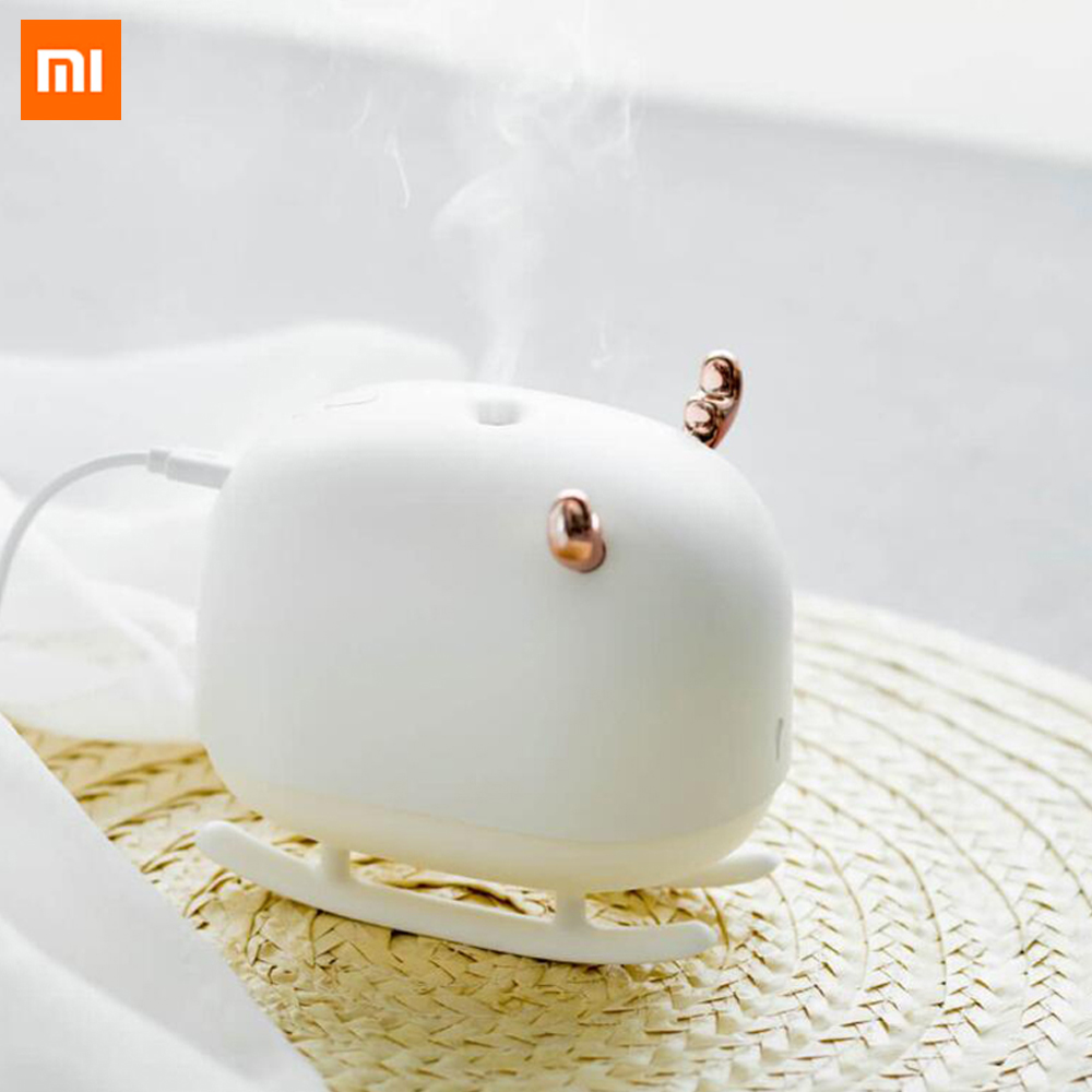 Xiaomi Mijia Deer Air Humidifier USB Mini Portable Air Purifier With Ambient Night Light Ultrasonic Diffuser For Smart Home Use