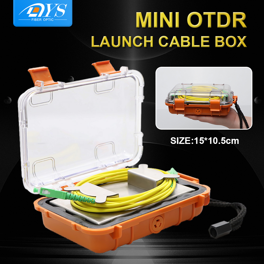 Mini OTDR Dead Zone Eliminator,SC-SC Fiber Rings Optical OTDR Launch Cable Box SM Extension Cable 100/300/500/1KM