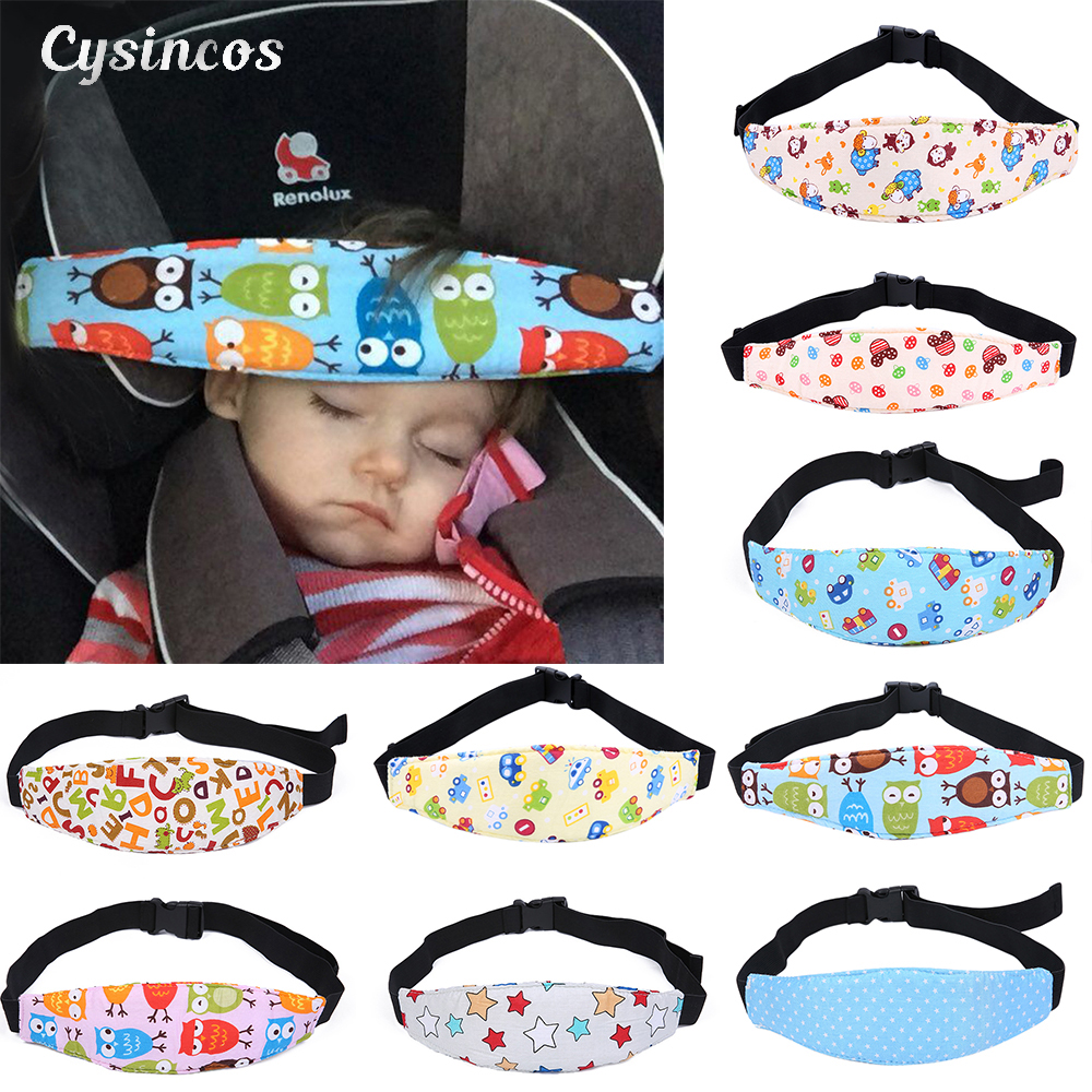 CYSINCOS Baby Safety Stroller Car Seat Sleep Nap Stroller Sleep Head Band Head Support Holder Belt Baby Stroller Car Accessory