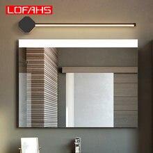 LOFAHS Modern led mirror lamp Strip Washroom mirror make up lights White or Black Color 90-260V Fixtures Lampu dinding Vegglampe