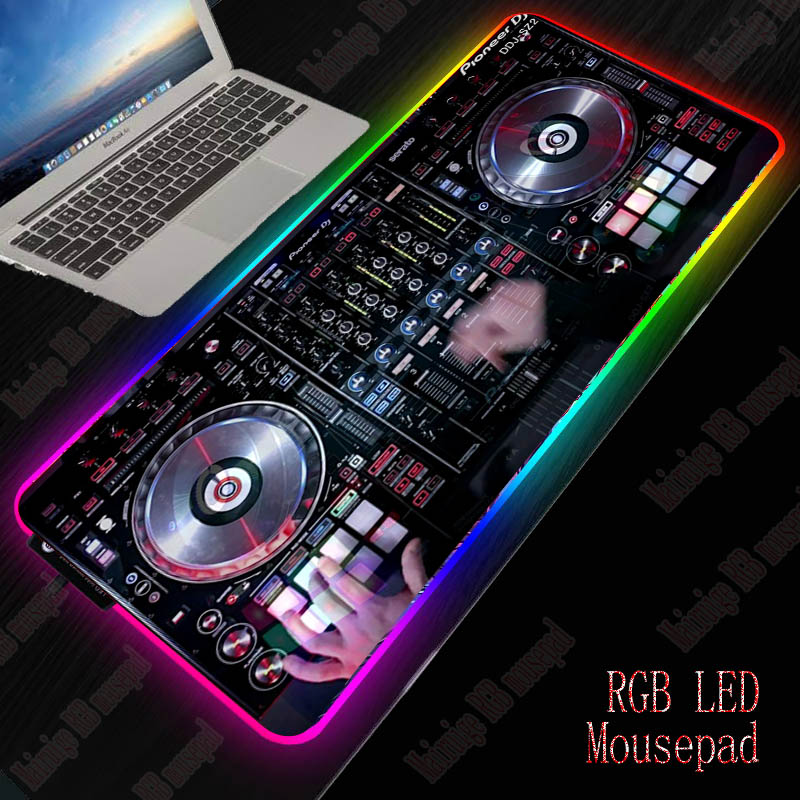 XGZ DJ Hand Drive RGB LED Large Mouse Pad USB Wired Lighting Gaming Gamer Mousepad Keyboard Colorful Luminous For PC Mice Mat