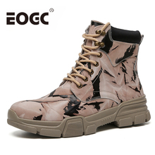 Winter Fashion Genuine leather men boots Cow Leather Shoes Men snow Boots Handmade Lovers warm with fur