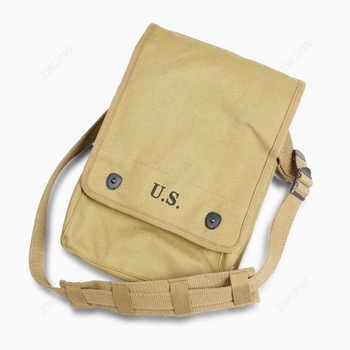 WW2 armée toile carte sac Militaire carte Pack articles divers sac kaki