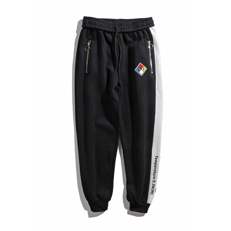 Popular Brand Off Ow White Mixed Colors Retro Embroidered After Bag Leather Disc Skinny Pants Men And Women Couples Sweatpants T