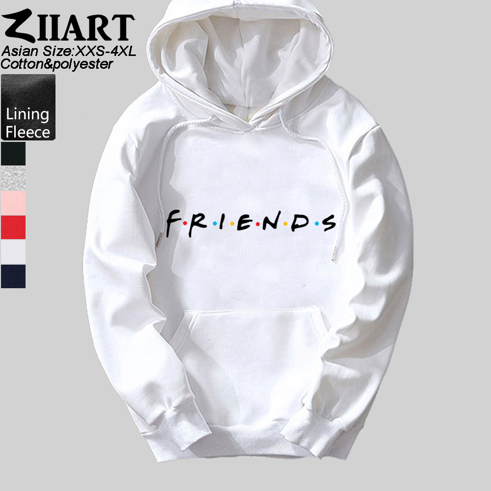 Woman Hoodie Friends Tv Show Logo Letter Alphabet Cotton Female Girls Fleece Polyester Couple Clothes Autumn Winter