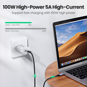 Image 2 - Ugreen 5A USB C to Type C Cable for Macbook Pro PD100W USB 3.1 Gen 2 Fast USB C Cable for Samsung S9 Note 9 Quick Charge4.0 Cord