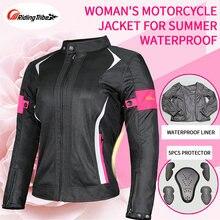Mulheres jaqueta da motocicleta calças senhora conjunto malha respirável equitação capa de chuva terno segurança moto jaqueta para o outono inverno jk-52