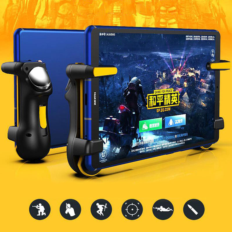 PUBG Ipad Trigger Controller Capacitance L1R1 Fire Aim Button Gamepad Joystick For Ipad Tablet Phone FPS Game Accessories(China)