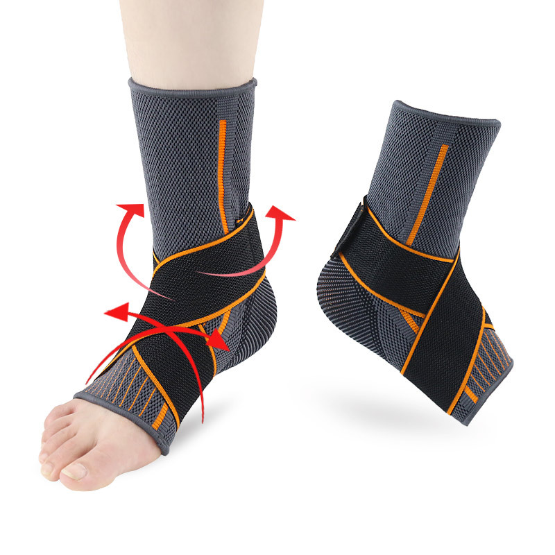 Nylon Sports Ankle Sleeve Knitted Warm Running Basketball Men Women Sprain Bandage Compression Guard Ankle Leg Running Sleeves