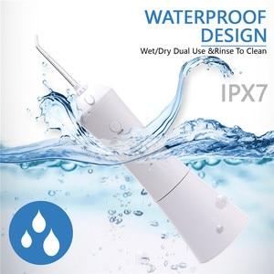 Image 4 - 新 3 モード口腔洗浄器 usb 充電式水フロッサヘッドポータブル歯科水ジェット 5 ジェットのヒント歯クリーナー 300 ミリリットル水タンク