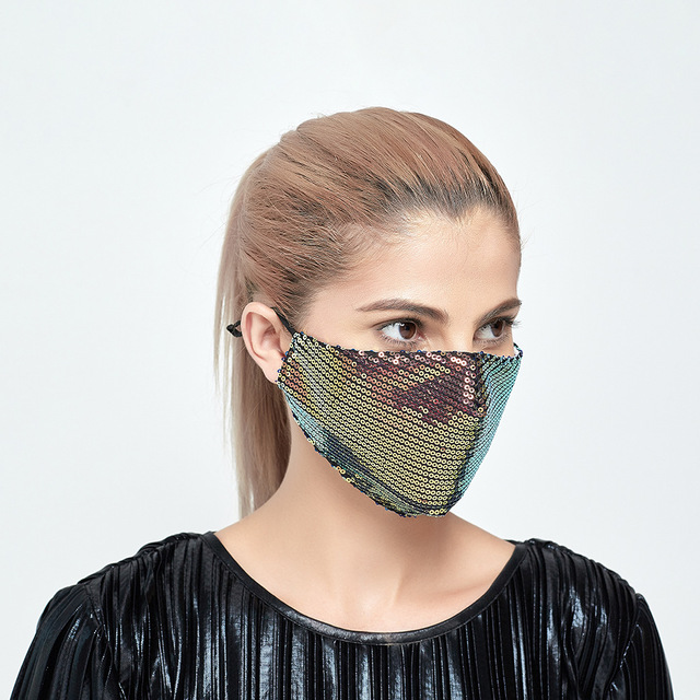 3set Good Cotton Women Face Mask Cover Respirator Reusable Washable Dust Fog Pollution PM2.5 Men Mouth Mask With Filter Pad 2