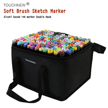 TOUCHNEW Art Markers Brush pen Sketch Soft Art Set Dual Headed Artist Sketch Oily Alcohol based markers For Manga Animation