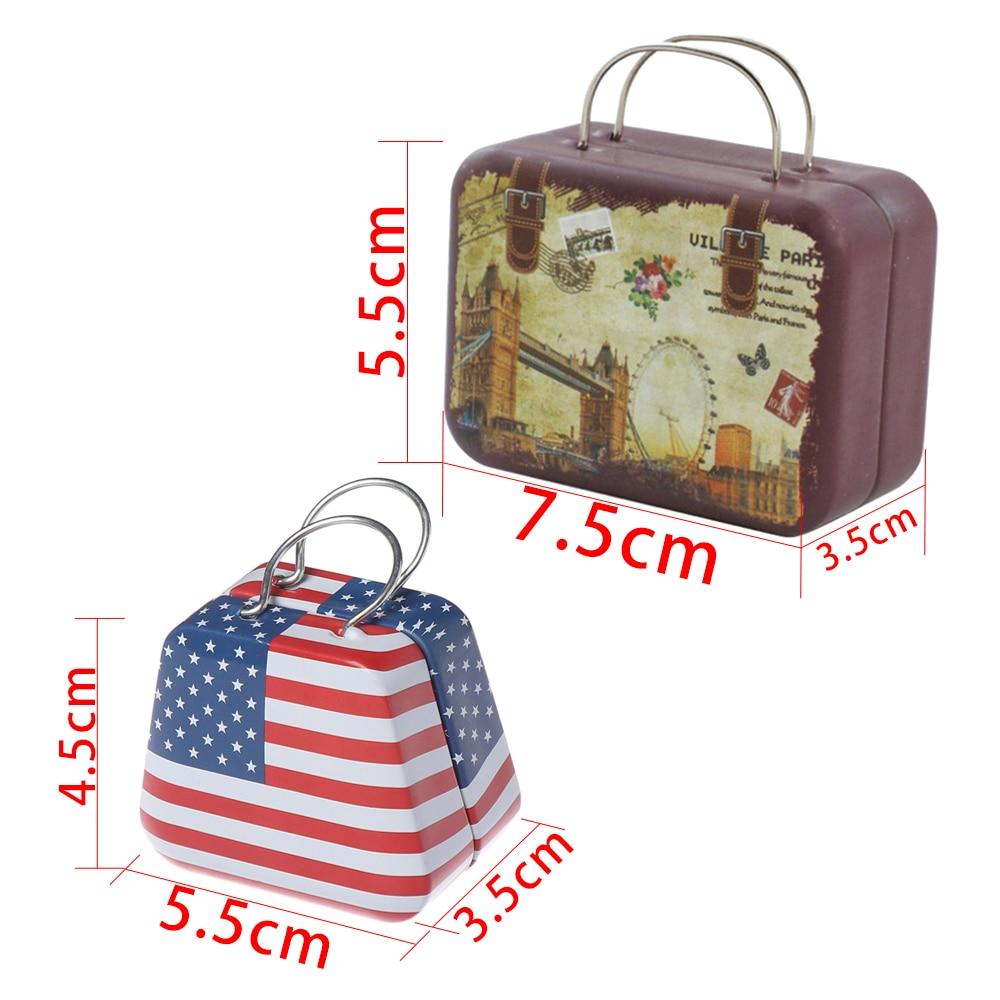 Cute Dollhouse Miniature Metal Luggage Box Suitcase Dolls Mini Accessory CL U4V5