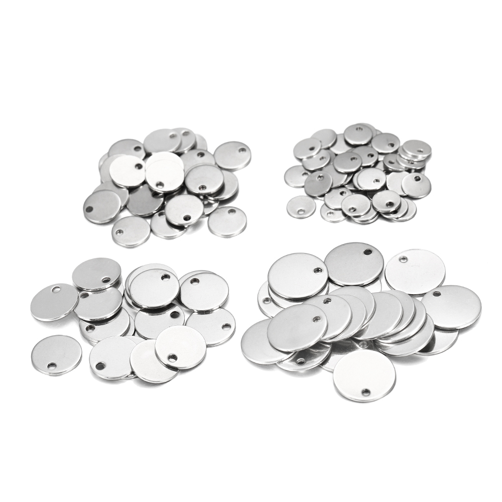 Pingente à prova d'água, pingentes para colares 10-50 peças de 6-30mm de aço inoxidável fazer joias diy