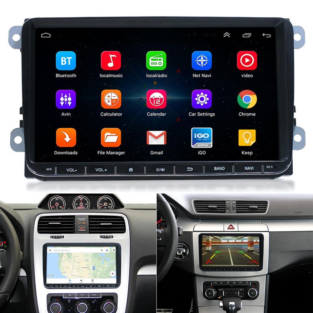 9 zoll GPS Navigation Auto DVD Player Android 6.0 FM AM MP5 Auto Radio Spiegel Link Bluetooth Musik-Player Unterstützung Canbus kamera
