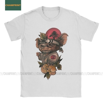 Gizmo Gremlins T Shirts for Men Pure Cotton T-Shirts 80s Movie Mogwai Monster Horror Retro Sci Fi Tees Short Sleeve Tops 4XL 5XL