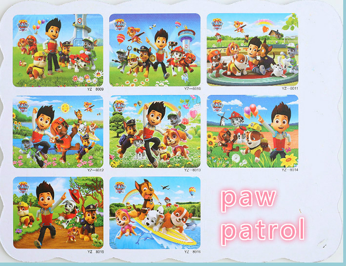21*28 см лапа патруль деревянная головоломка дети мультфильм животное деревянные пазлы ребенок раннего образования обучающая игрушка для по...