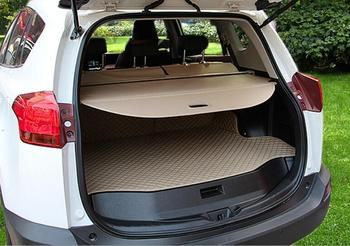 Rear Trunk Security Screen Privacy Shield Cargo Cover For TOYOTA RAV4 RAV 4 2013 2014 2015 2016 2017 2018 (Black/Beige) image