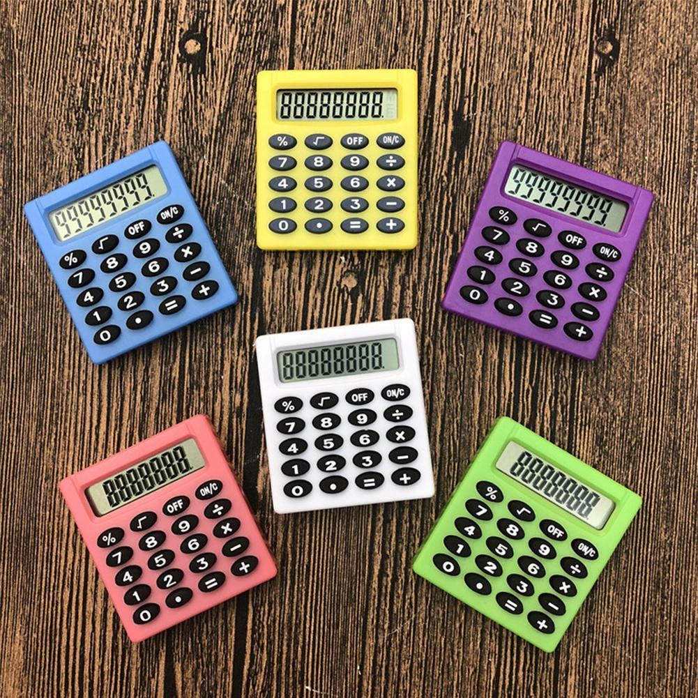 New Student Small Mini Electronic Calculator Candy Supplies Office Calculating 5 Colors Gift A1X1