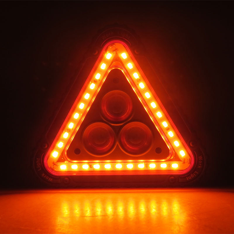 New Hot LED Working Lamp Portable Waterproof Triangular Warning Light For Camping Hiking Emergency
