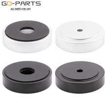 40x10mm Machined Solid Full Aluminum Speaker Isolation Feet Pads Stand for AMP DAC CD Player Turntable Cabinet Silver Black